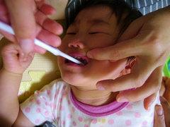 ななちゃんの歯磨き