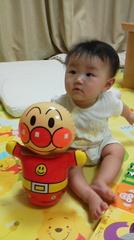 赤ちゃんとアンパンマン